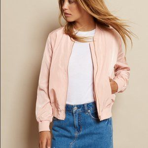 Spring!🌷 Garage Dusty Rose Bomber Jacket Size XS